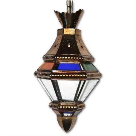 Farol Granadino Cristal Opal Multicolor 46cm
