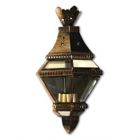 Aplique de Pared Cristal Transparente Oro Viejo 46cm
