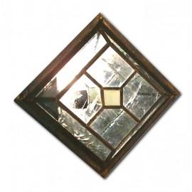 Plafón de Techo Cristal Transparente Cuadrado 26cm