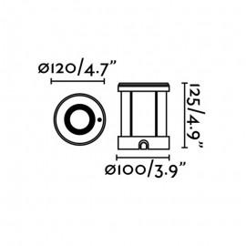 Empotrabe de Suelo Exterior Faro Tecno-6 Acero Inox y Cristal