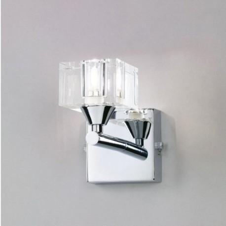 Aplique de Pared Mantra Cuadrax Cromo Brillo LED