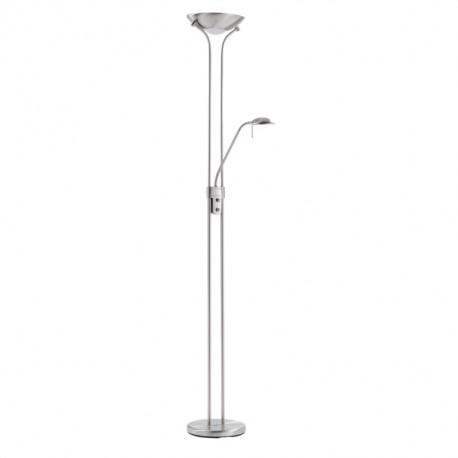 Lámpara de Pie LED MDC Dina 2 Luces Regulables Cromo Mate
