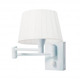 Aplique para Dormitorio Sulion Basic Blanco Articulado con Pantalla