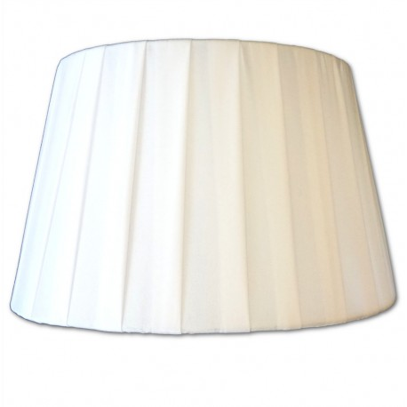 Pantalla de Tela Plisada Blanca 18x11x14cm