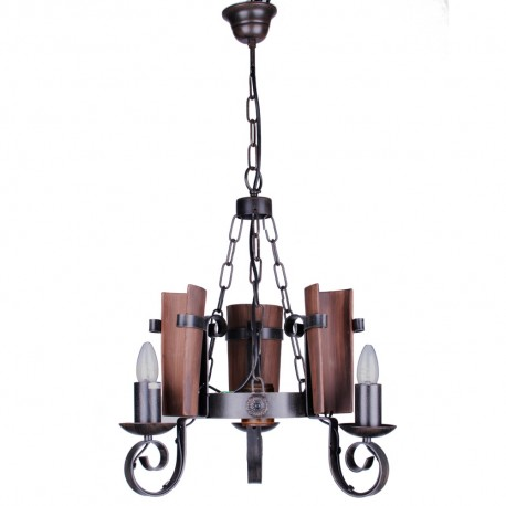 Lámpara de Forja Modelo Teja 3 Luces