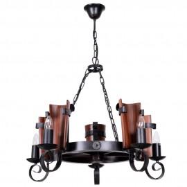 Lámpara de Forja Modelo Teja 5 Luces