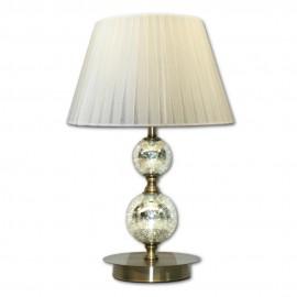 Lámpara de sobremesa Bronce Viejo con Pantalla Organza