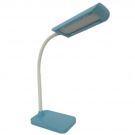 Flexo LED Sobremesa Zioneled Cuenca Regulable y Táctil Azul