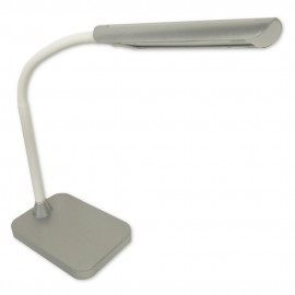 Flexo LED Sobremesa Zioneled Cuenca Regulable y Táctil Plata