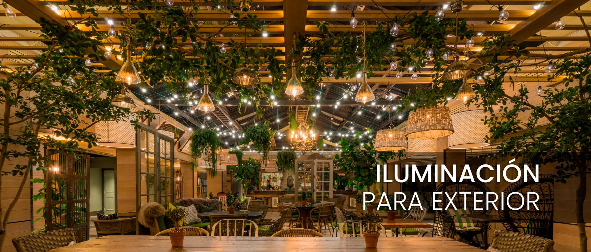 La mejor iluminación para tu jardín en Lámparas Gálvez
